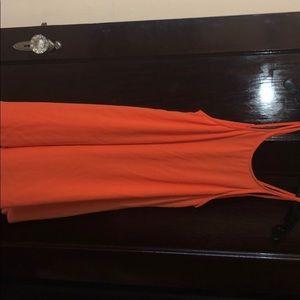 Orange Lush mini halter dress size Small
